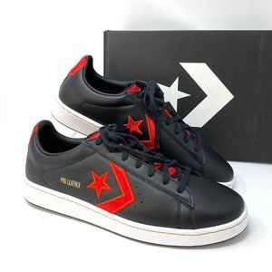 Converse PRO LEATHER Low Top Black Red Sneakers M